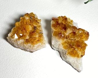 Citrine Crystal Raw Clusters - Prosperity Happiness, Joy, Light
