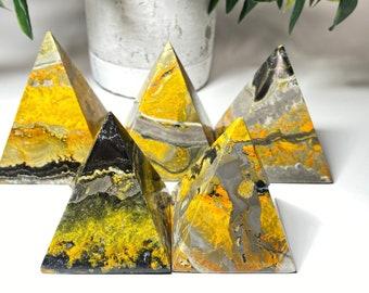Bumble Bee Jasper Crystal Pyramids - Positivity, Life's Purpose