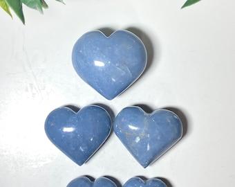 Angelite Crystal Hearts