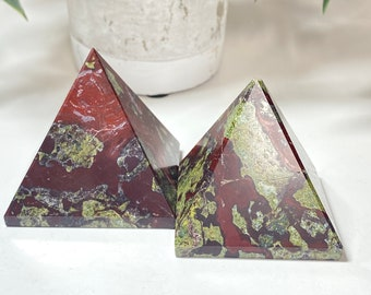Dragon Stone Crystal Pyramids - Connection, Courage
