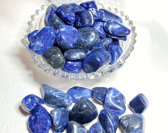 Sodalite Crystal Tumble Stones - Subconscious, Intuitive, Insight