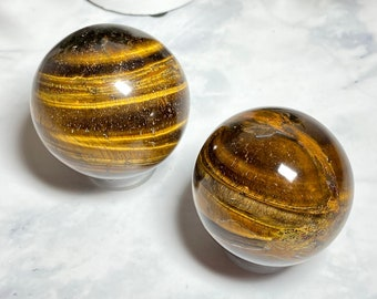 Tiger's Eye Crystal Spheres