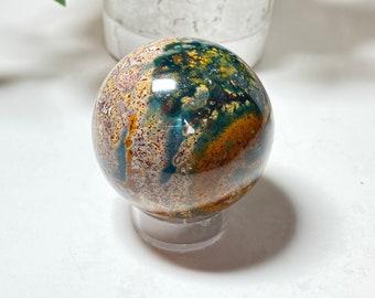 Ocean Jasper Crystal Sphere - Peace, Letting Go, Renewal