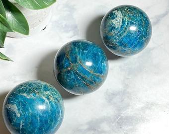 Blue Apatite Crystal Spheres