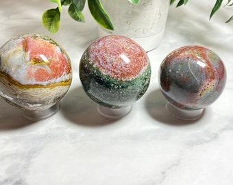 Ocean Jasper Crystal Spheres