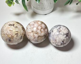 Flower Agate Crystal Spheres - Bridging the Gap, Self Improvement