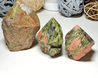 Unakite Crystal Top Polished Points - Vision, Alignment, Nurturing
