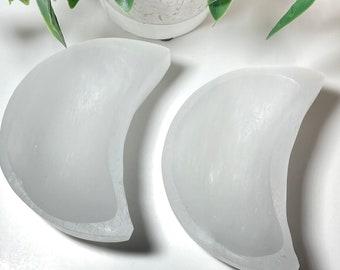 Selenite Crystal Charging Moon Bowls