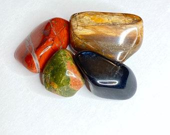 Crystal Grounding Tumbled Stone Set