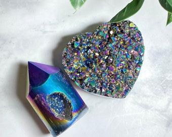 Crystal Titanium Aura Quartz