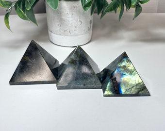 Labradorite Crystal Pyramids with Tons of Flash - Transformation Cosmic Destiny, Curiosity