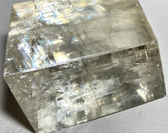 Optical Calcite Crystal with Refracting Properties - Clarity, Energy, Clear Blockages