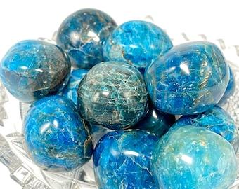 Blue Apatite Crystal Tumble Stones