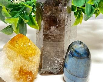 Change Crystal Set - Smoky Quartz, Citrine, Labradorite