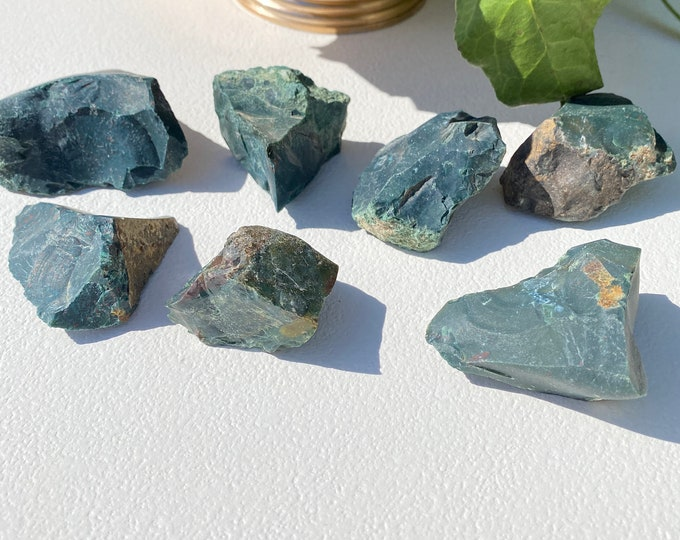 Moss Agate Crystal Raw Stones