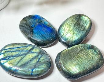 Labradorite Crystal Palm Stones - Transformation. Cosmic Destiny, Curiosity