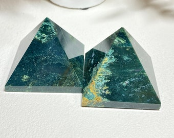 Bloodstone Crystal Pyramids - Energy, Courage, Restoration