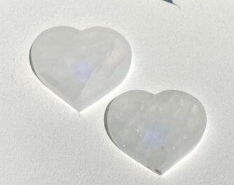 Selenite Crystal Heart Plates