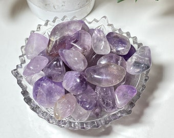 Amethyst Crystal Tumbled Stones - Protection, Cleansing, Intuition