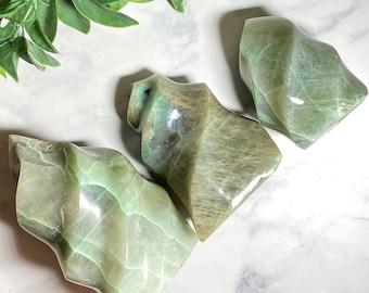 Green Moonstone Crystal Flames
