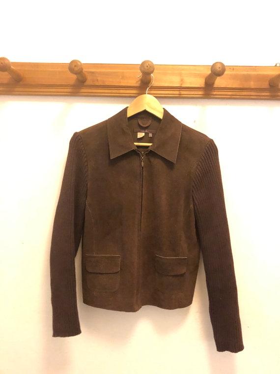 Vintage suede and wool jacket
