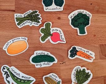 Veggie Puns Sticker Pack