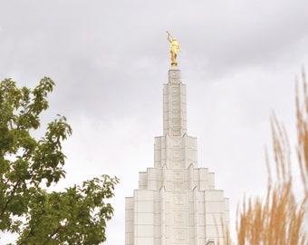 Idaho Falls LDS Temple Photograph; Digital Download; LDS Temple Photography; IF Temple; Latter Day Saint Art; Idaho Falls Temple