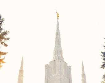 Portland LDS Temple; Digital Download; LDS Temple Photography; Portland Oregon Temple; Lake Oswego Oregon, PDX