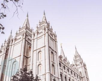 Salt Lake City LDS Temple Spires; Digital Download; LDS Temple Photography; SLC Temple Spires