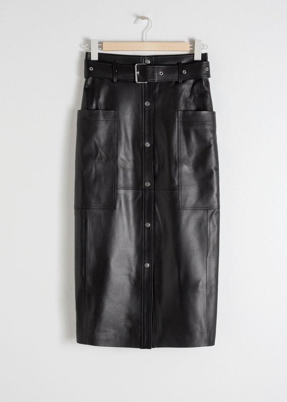 Skater Skirt Women Black Long Skirt Pencil Straight Short Circle Skirt Vintage 80s Leather Skirt High Waist Moto Skirt Leather Skirt
