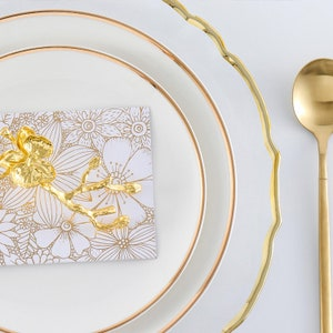 Vintage Soup Bowls Estonian Tableware Set of 2 Gold Rim Decorated Fine China Foodie Gift Porcelain Plates