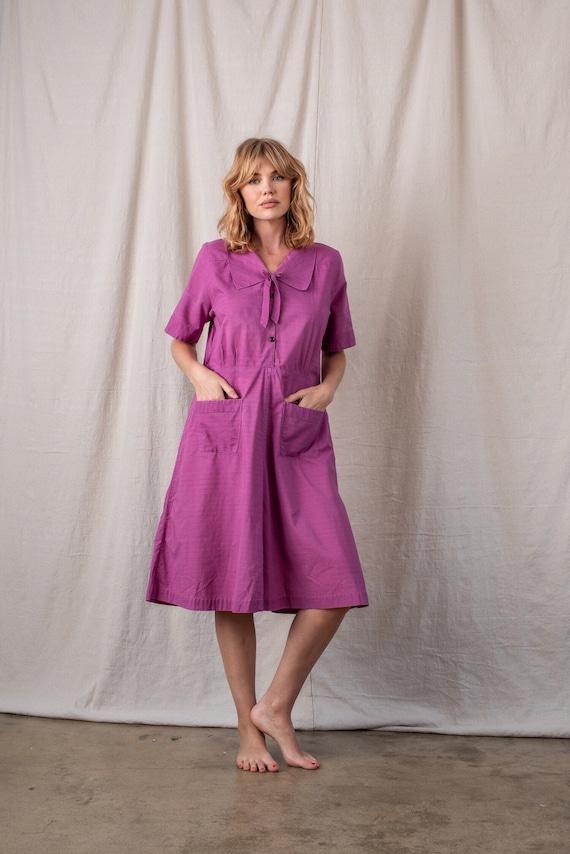 1960s Eggplant Sailor Dress