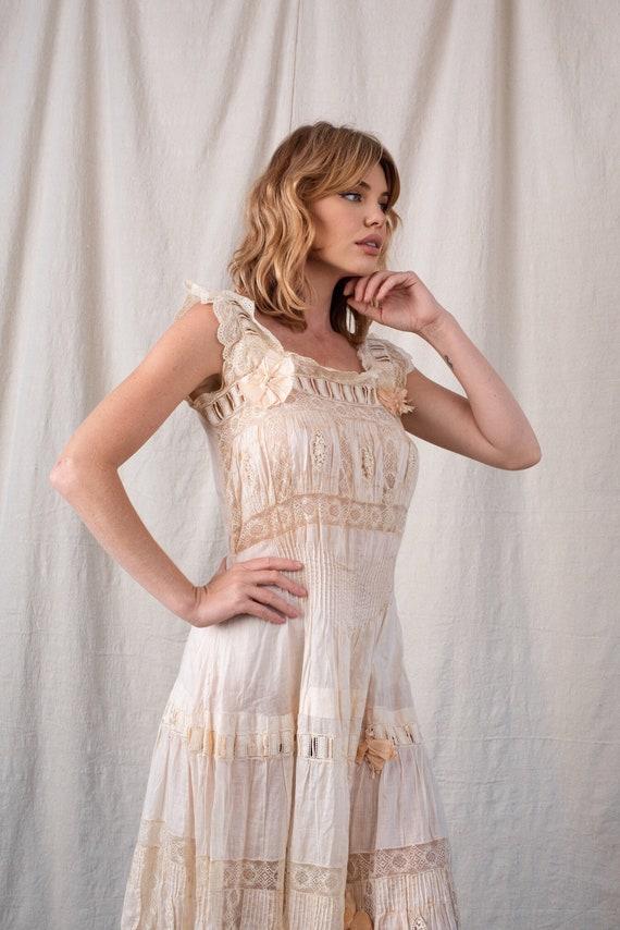 1930s Ivory Cotton Dress
