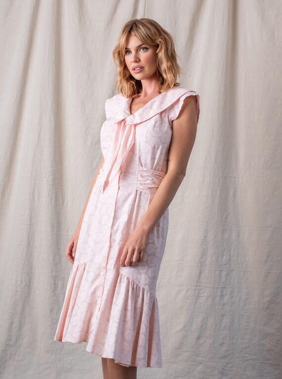 1980s Pink Seashell Sailor Dress
