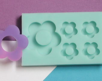 Flower Bits Silicone Mold Palette for  Resin Deco Bag Earrings Studs Shaker Charms DIY
