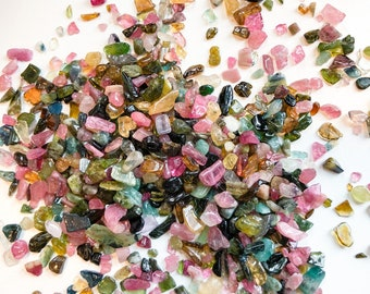 Pink Tourmaline Chips shape Length of Necklace 35 .Tourmaline chips .Free form shape