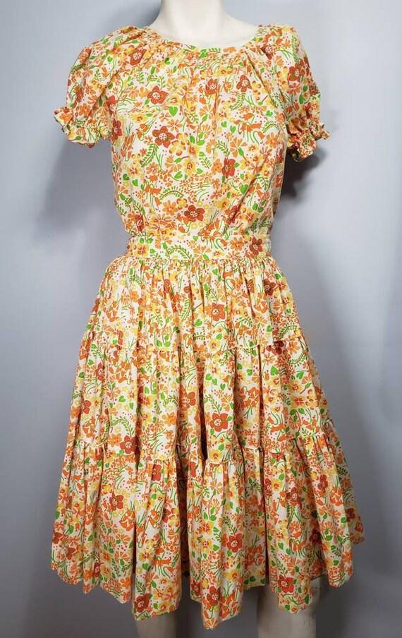 Vintage,Rockmount Ranch Wear, 2 piece citrus flora
