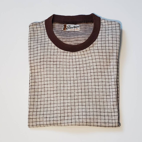 Vintage 1950s Men's Brentwood T-shirt sz Small.