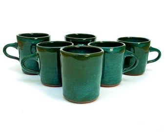 Small Sea Green Mugs