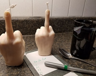 Middle Finger Gesture  Candle, Gag Gift F#ck You Candle, Novelty Gift, Gift for Him, Gift for Her