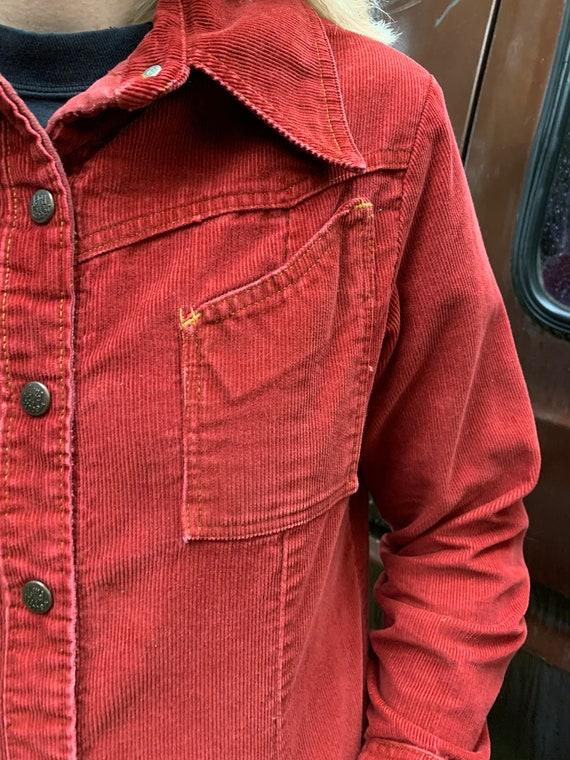 Landlubber Red Corduroy Jacket | Size S-M