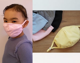 KID'S Mask | 2 for 1 Price | Children's | Back to School | Cotton | Adjustable | Reusable | Washable | Optional Filter | Handmade