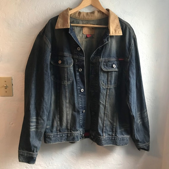 1980s Vintage Guess Denim Chore Jacket Men's Size