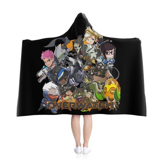 Overwatch Hooded Blanket,Gamer Blanket,Overwatch Inspired,Deva,Mercy,Ana,Ash,Mc Cree Mas