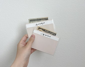 Mini Individual laminated handwritten cash envelopes!