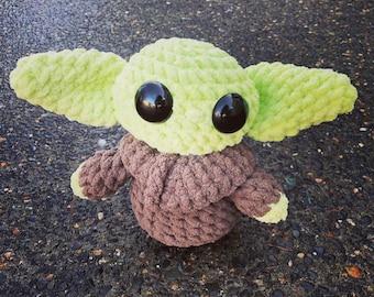 Ready to Ship - Baby Yoda, The Child, Amigurumi Baby Yoda