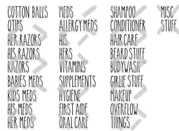 Rae Dunn Inspired HomeCloset Labels