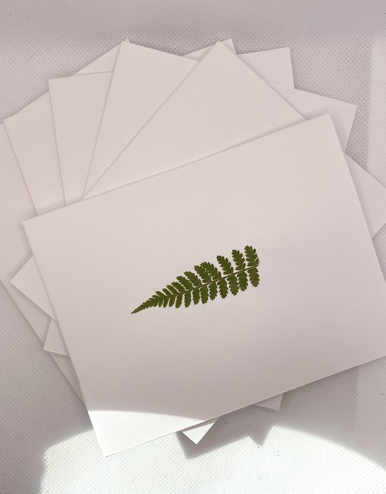 Hand Pressed Leaf Greeting Cards-Fall Collection