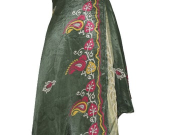 Handmade Boho Festival Wrap Skirt Thai Sarong Wrap Tie Waist  Thai Tradition Cotton Skirt Thai Skirt Jupe Thai