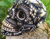 Wixarika art Huichol art Indigenous art Mexican art Mexican handicrafts Art sculpture Beaded art Human Skull